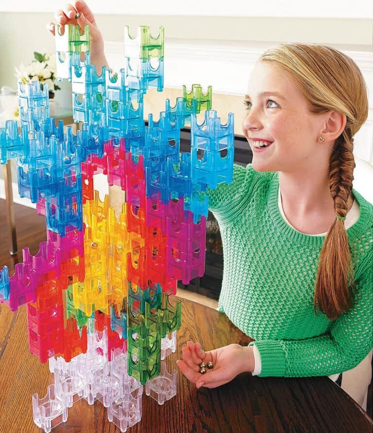 MindWare Q-Ba-Maze 2.0 Marble Maze Builder Set Unique Gift Idea for Kids