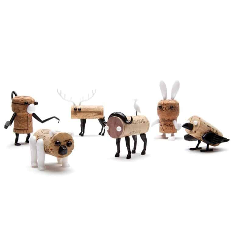 Monkey Business Corkers Wine Cork Figurines Animal Family Pack