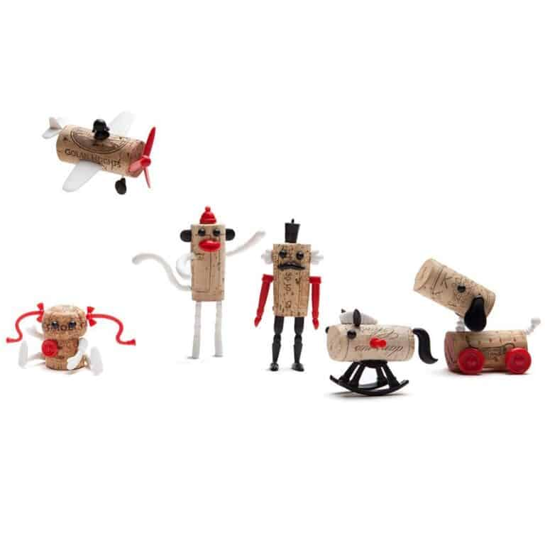 Monkey Business Corkers Wine Cork Figurines Classics Family Pack
