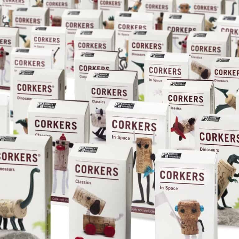 Monkey Business Corkers Wine Cork Figurines Cool Party Giveaway