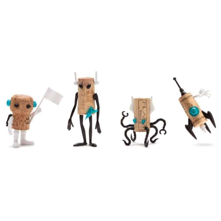 Monkey Business Corkers Wine Cork Figurines Space Family Pack