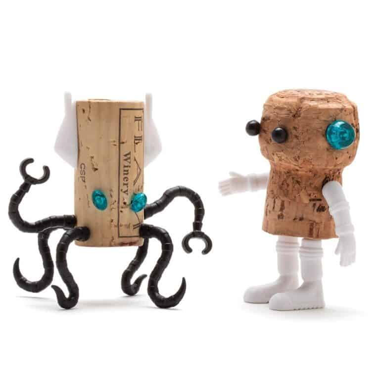 Monkey Business Corkers Wine Cork Figurines Squid Alien and Astronaut Collectibles