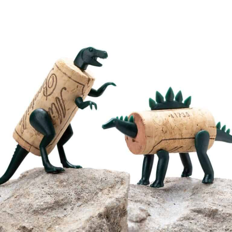 Monkey Business Corkers Wine Cork Figurines T-Rex and Stegasaurus Creations