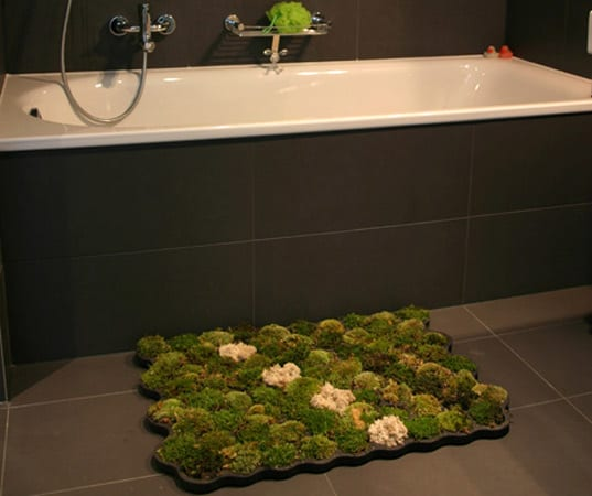 Moss Bathroom Rug Green Product