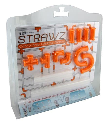 NUOP Connectable Drinking Straws Orange Pack