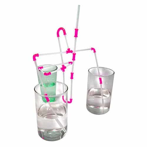 NUOP Connectable Drinking Straws Pink Connectors