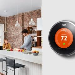 A thermostat that learns what temperatures you like.
