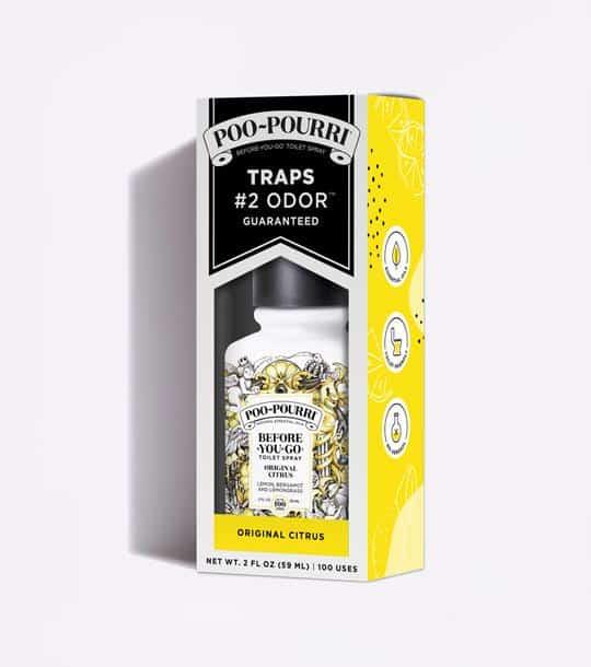 Poo-Pourri Before-You-Go Toilet Spray Yellow Box Packaging