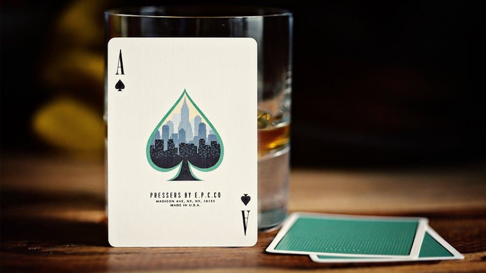 Pressers Mad Men Era Playing Cards  Ace of Spades