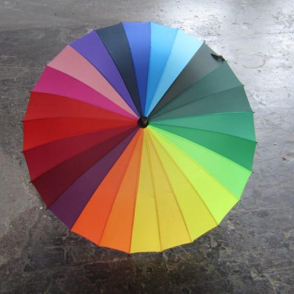 Rainbow Color Wheel Umbrella Colorful Gift Idea