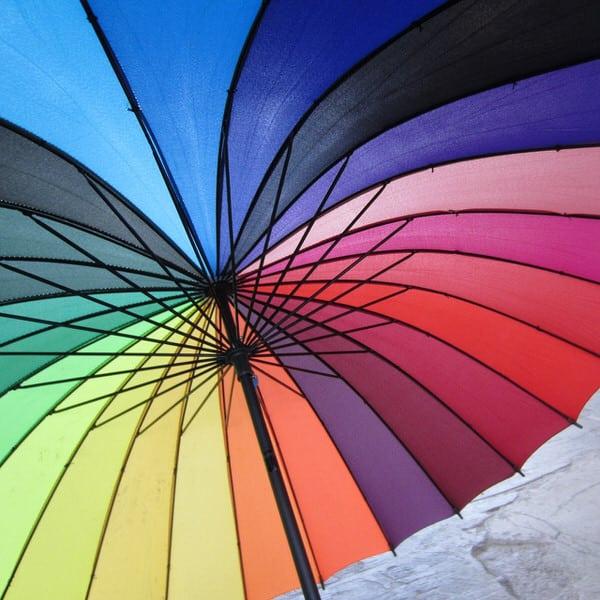 Rainbow Color Wheel Umbrella Creative Fashion Accessory