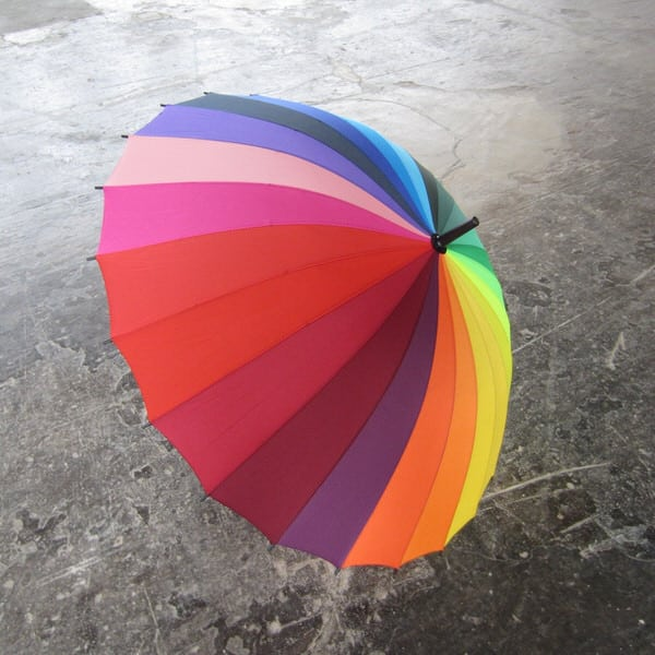 Rainbow Color Wheel Umbrella Playful Product