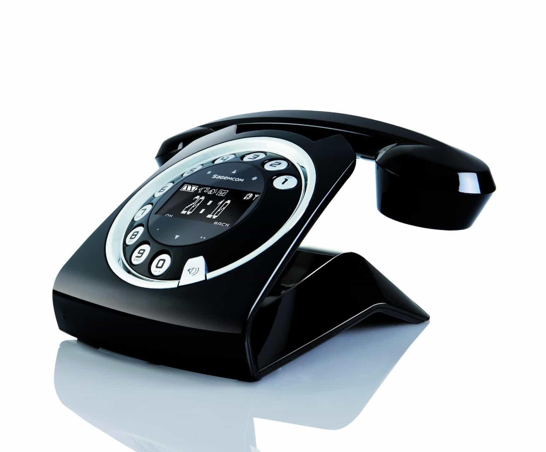 Sagemcom Sixty Cordless Telephone Black Retro