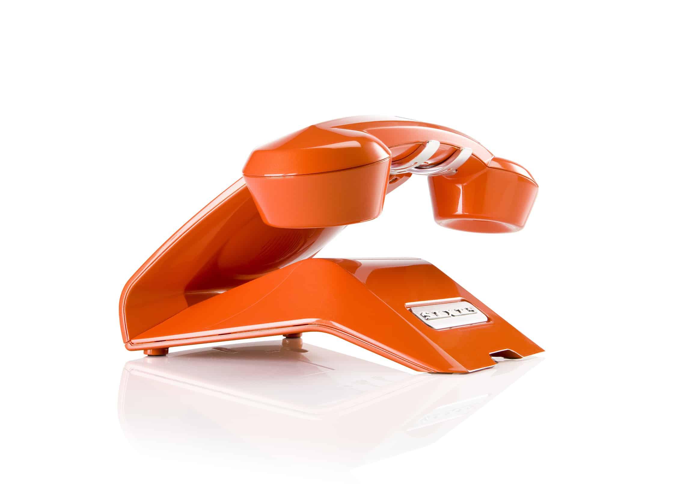 Sagemcom Sixty Cordless Telephone Orange Rear