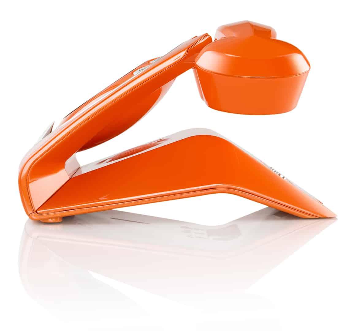 Sagemcom Sixty Cordless Telephone Orange Side