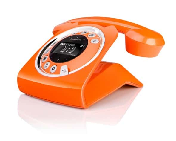Sagemcom Sixty Cordless Telephone Stylish Retro Orange
