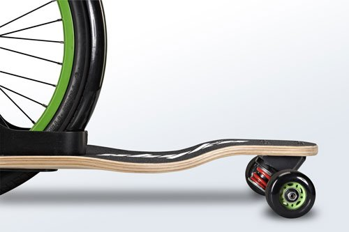 Sbyke P-20 Patented Rear-Steering Scooter Side Detail