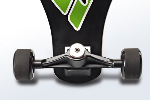 Sbyke P-20 Patented Rear-Steering Scooter Wheel Detail