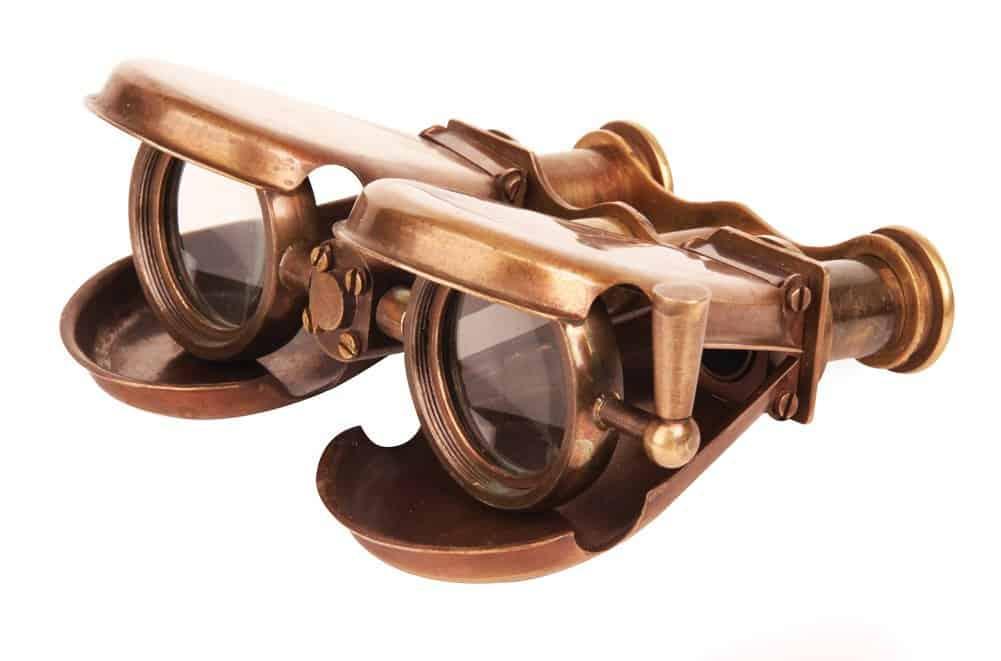 Steampunk Foldable Belt Binoculars Portable Geek Gift
