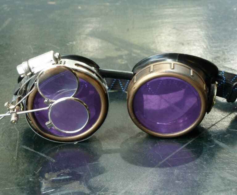 Steampunk Victorian Cosplay Goggles Double Magnifying Eye Loupes