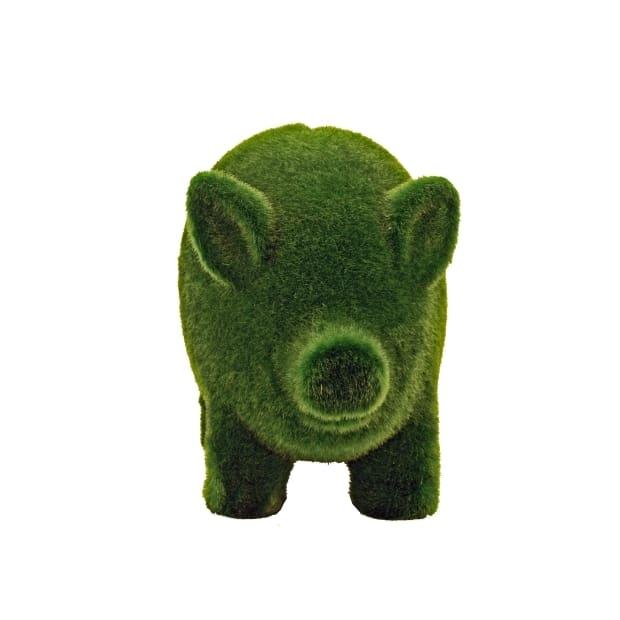Streamline Grass Animal Coin Banks Pig