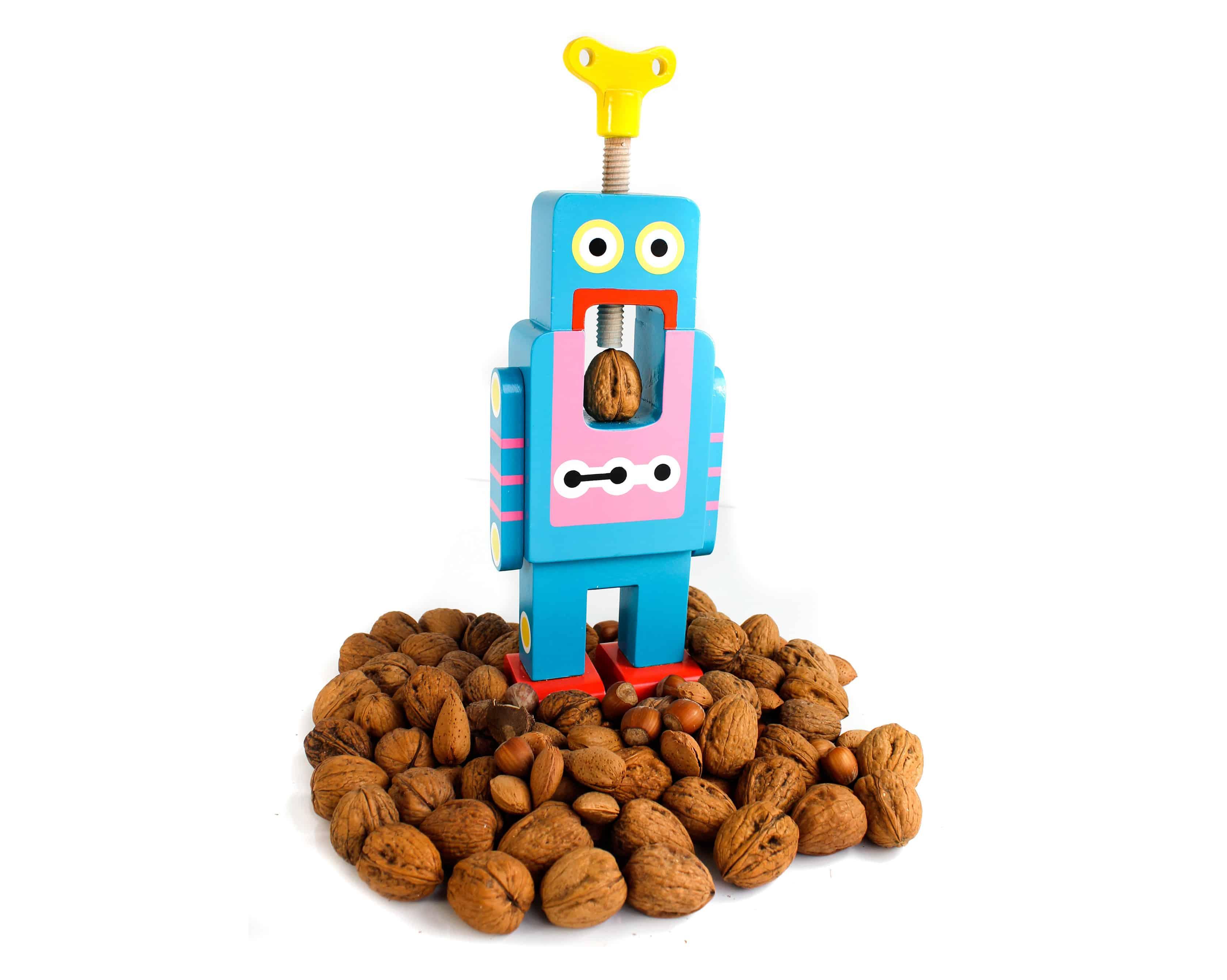 Suck UK Robot Nutcracker Blue Bot Nuts