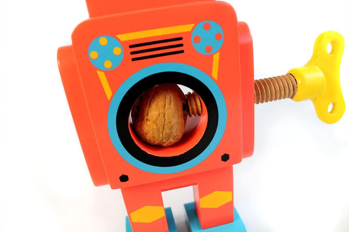 Suck UK Robot Nutcracker Red Robot Detail