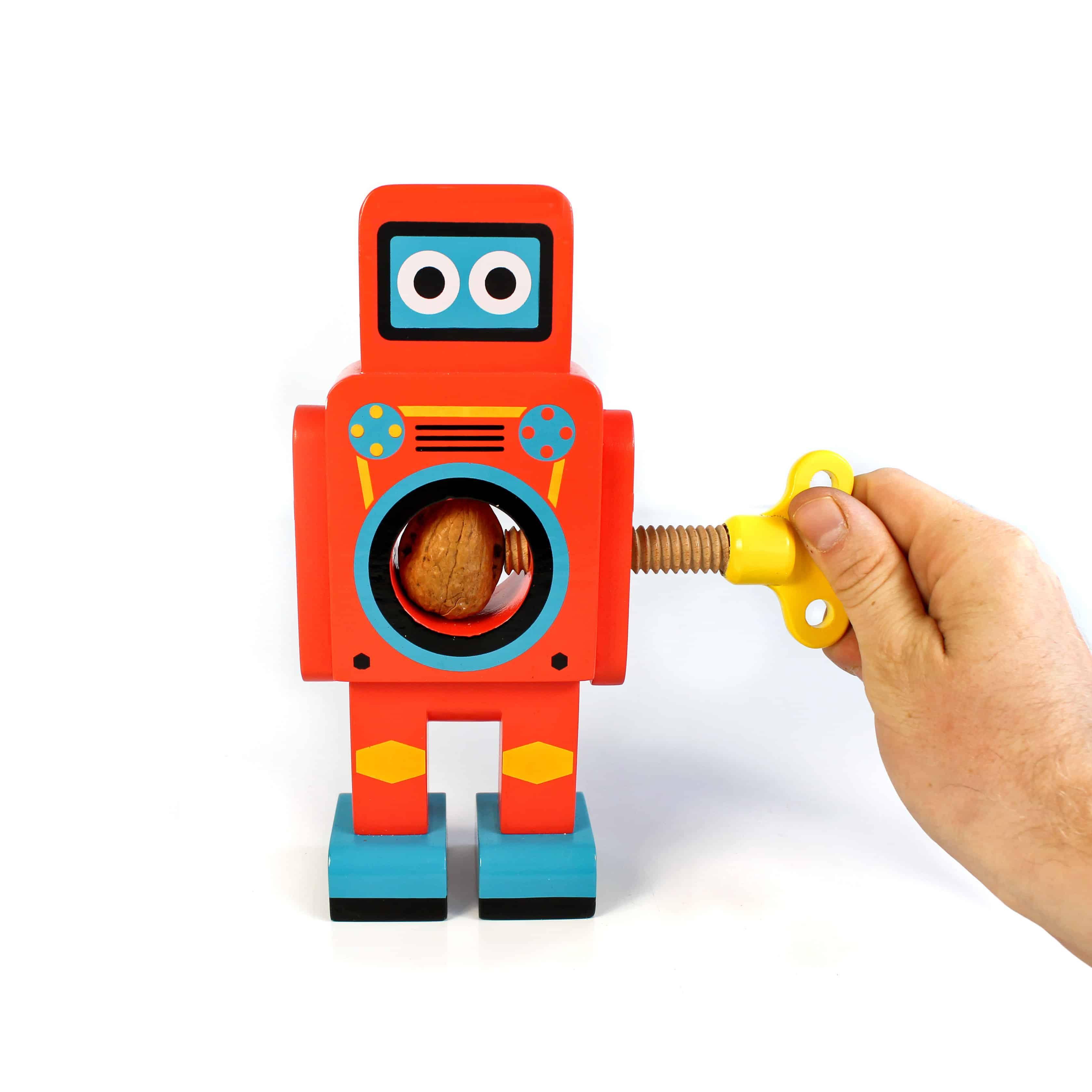 Suck UK Robot Nutcracker Red Robot Front View