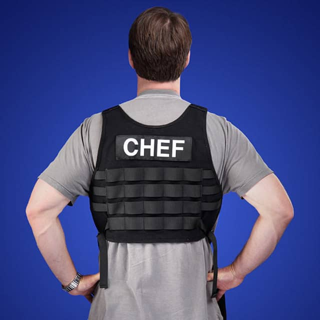 Tactical BBQ Apron Back Chef Label