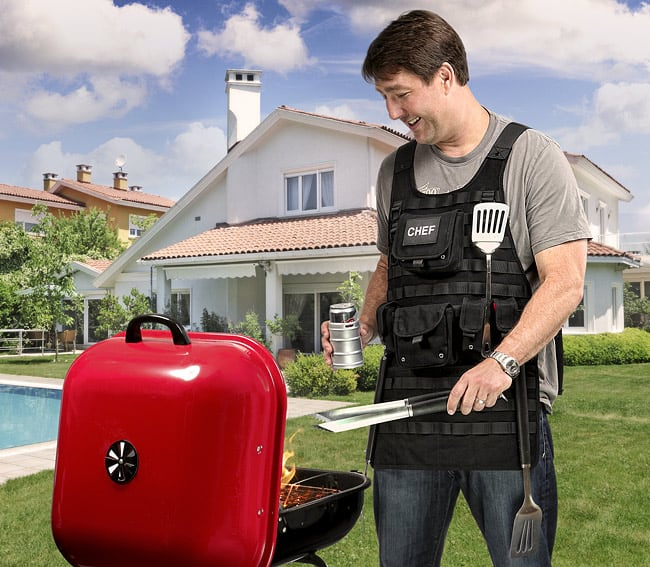 Tactical BBQ Apron Fathers Day Gift