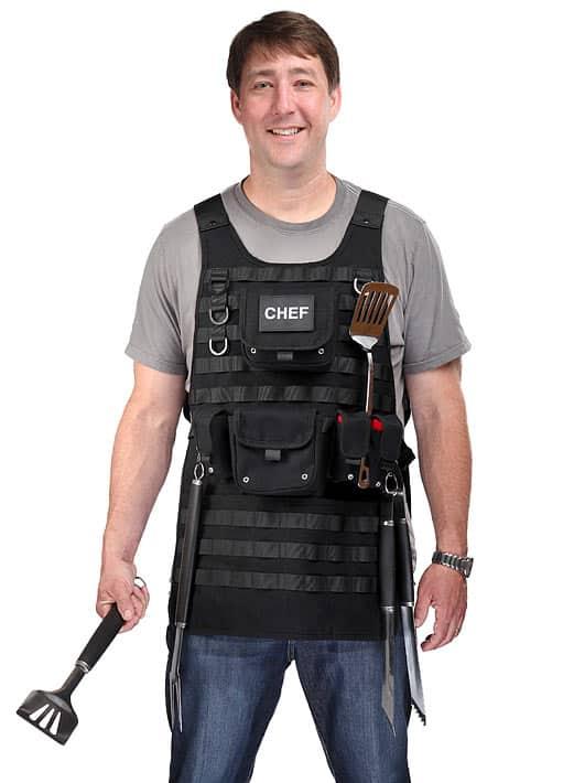 Tactical BBQ Apron Funny Dad Gift Idea