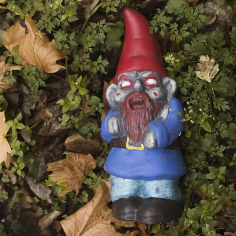 Thumbs Up! Zombie Garden Gnome Creepy Decoration