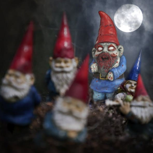 Thumbs Up! Zombie Garden Gnome Full Moon