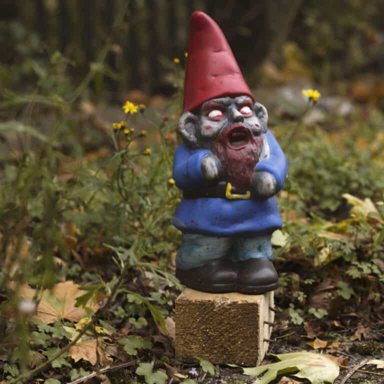 Thumbs Up! Zombie Garden Gnome Halloween Home Decor