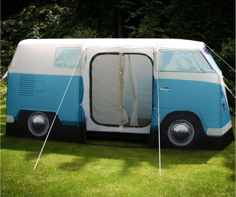 Volkswagen Van Camper Tent Blue Entrance