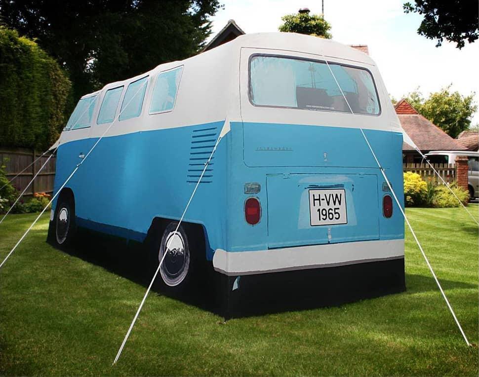 Volkswagen Van Camper Tent Blue Rear