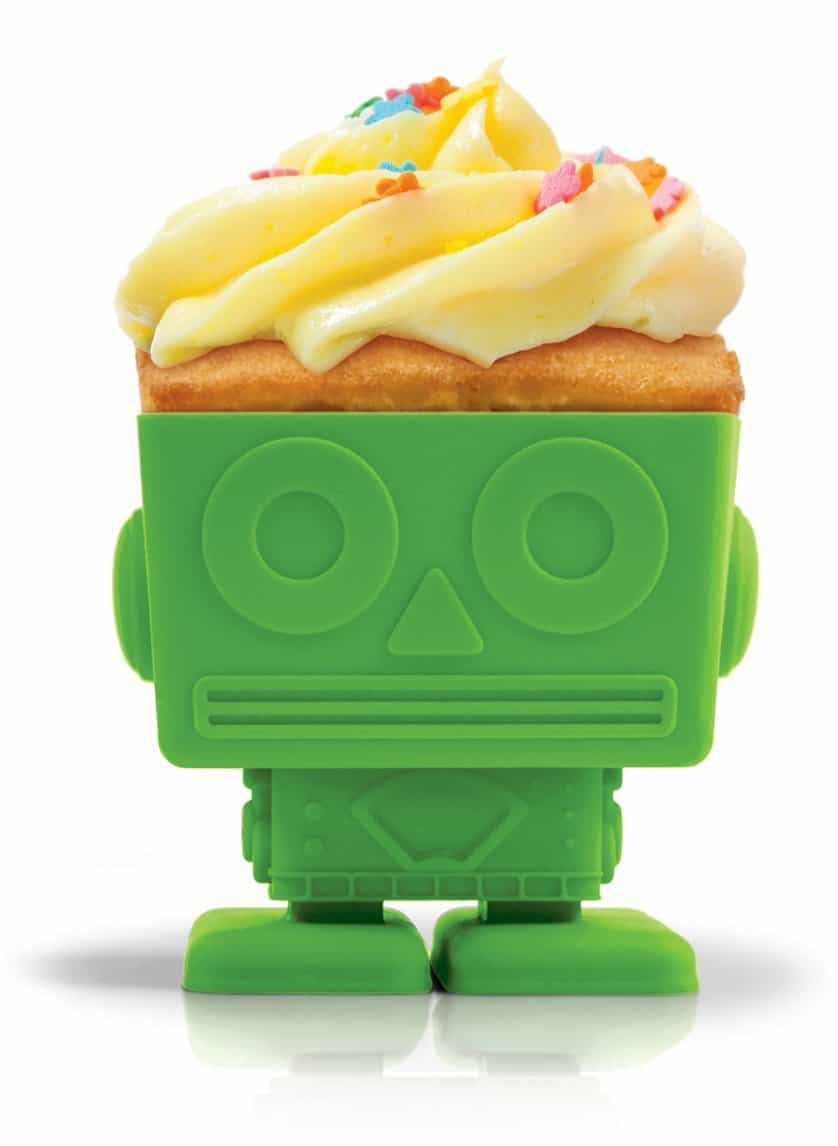 Yumbots Cupcake Holder Green