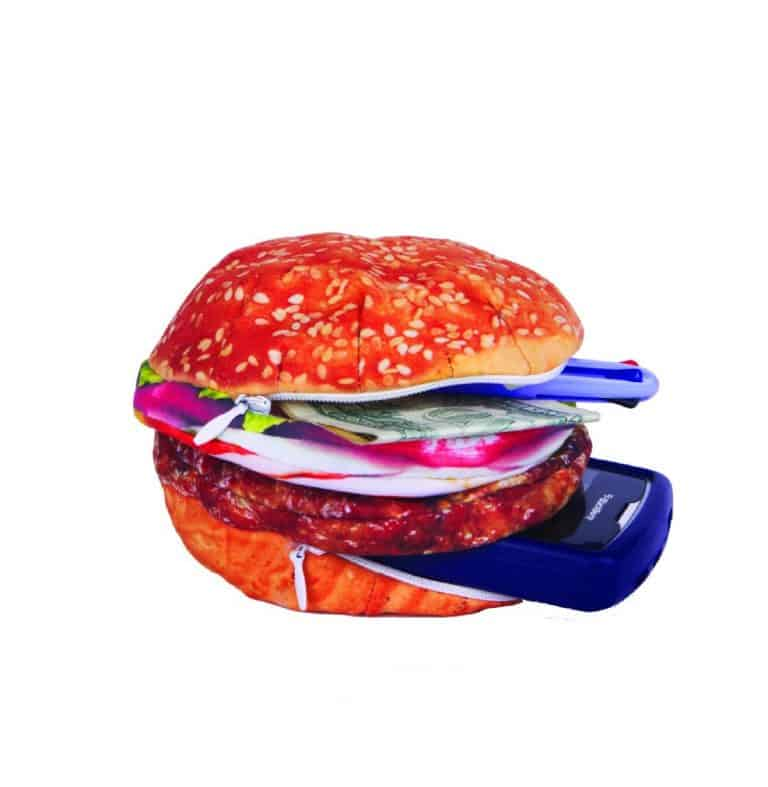 Yummy Pocket Storage Burger Pencil Case Holder Food Inspired Product