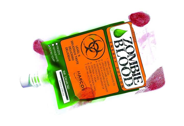 Zombie Blood Energy Potion Pack Weird Gift Ideas
