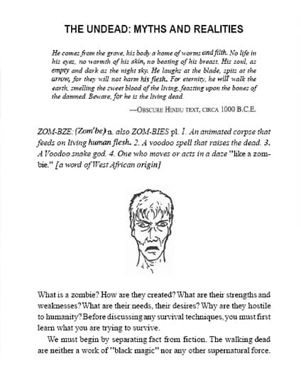 Zombie Survival Guide Page Myths