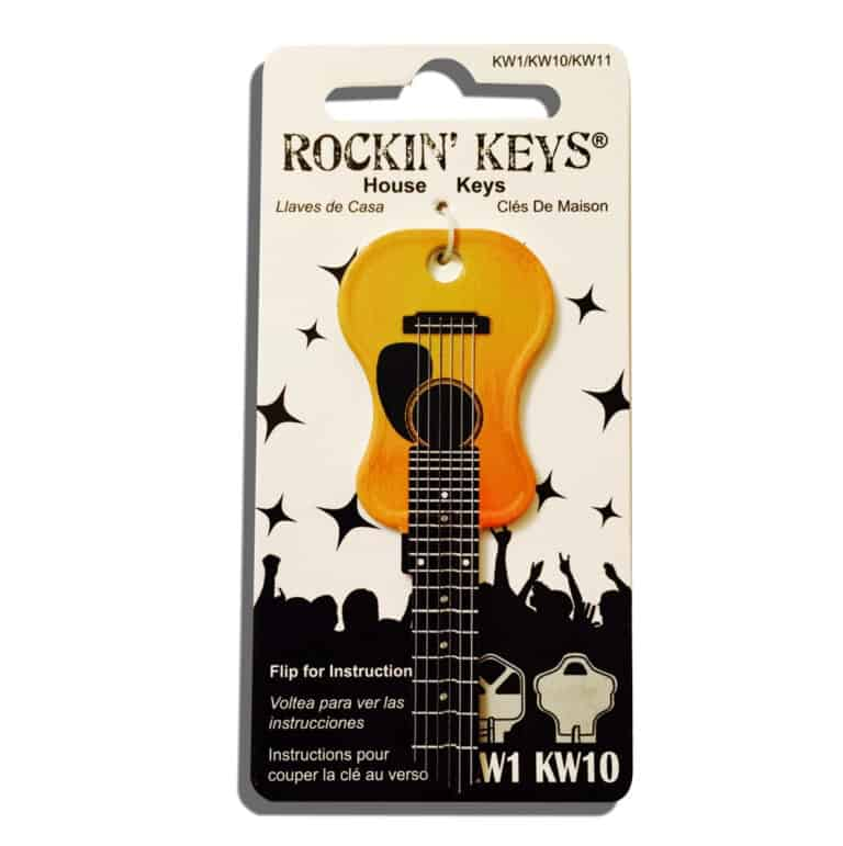 Acoustic Guitar Kwikset KW1 KW10 KW11 House Key Classic Design