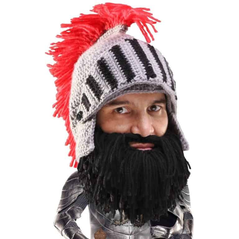 Barbarian Knight Beard Head Black Bearded Beanie