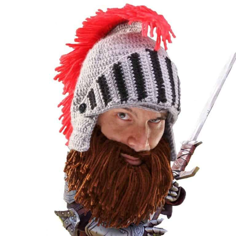 Barbarian Knight Beard Head Brown Bearded Beanie