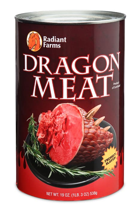 Canned Dragon Meat Canned Novelty Item