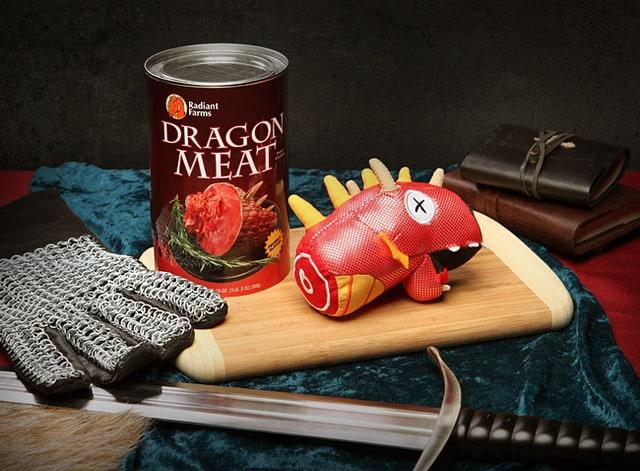 Canned Dragon Meat Stuffed Dragon Head