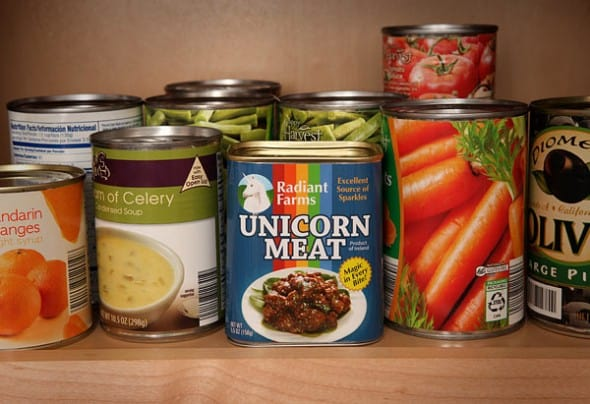 Canned Unicorn Meat Rare Delicacy