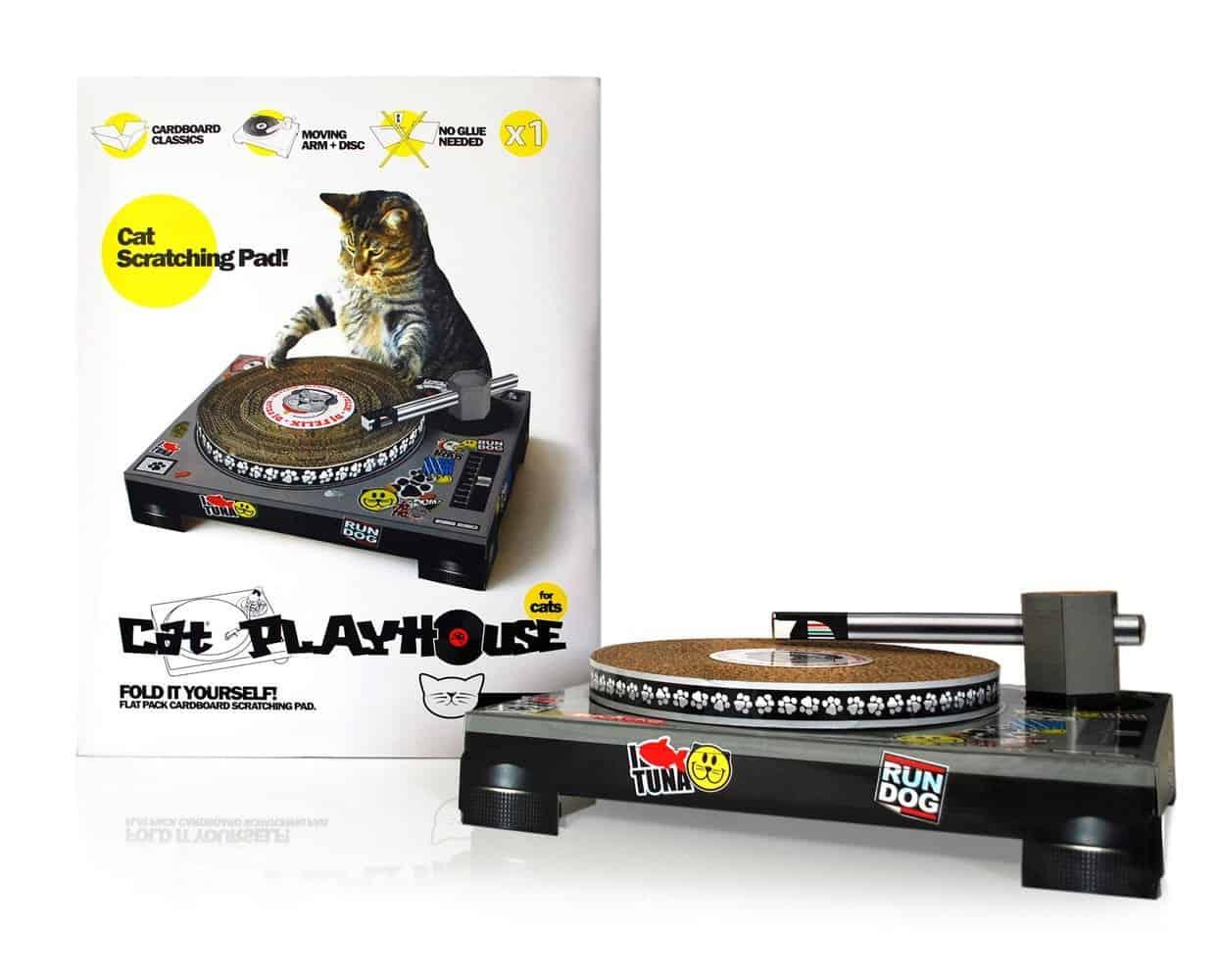 Cat Scratch DJ Scratching Pad Cute Box