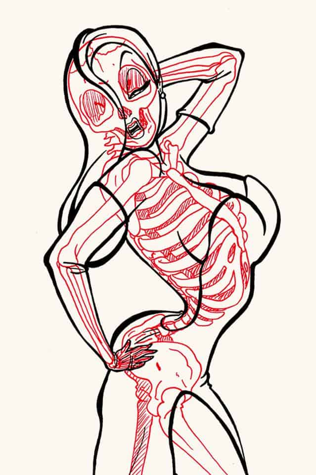 Chris Panda X-Ray Series Jessica Rabbit Who Framed Roger Rabbit