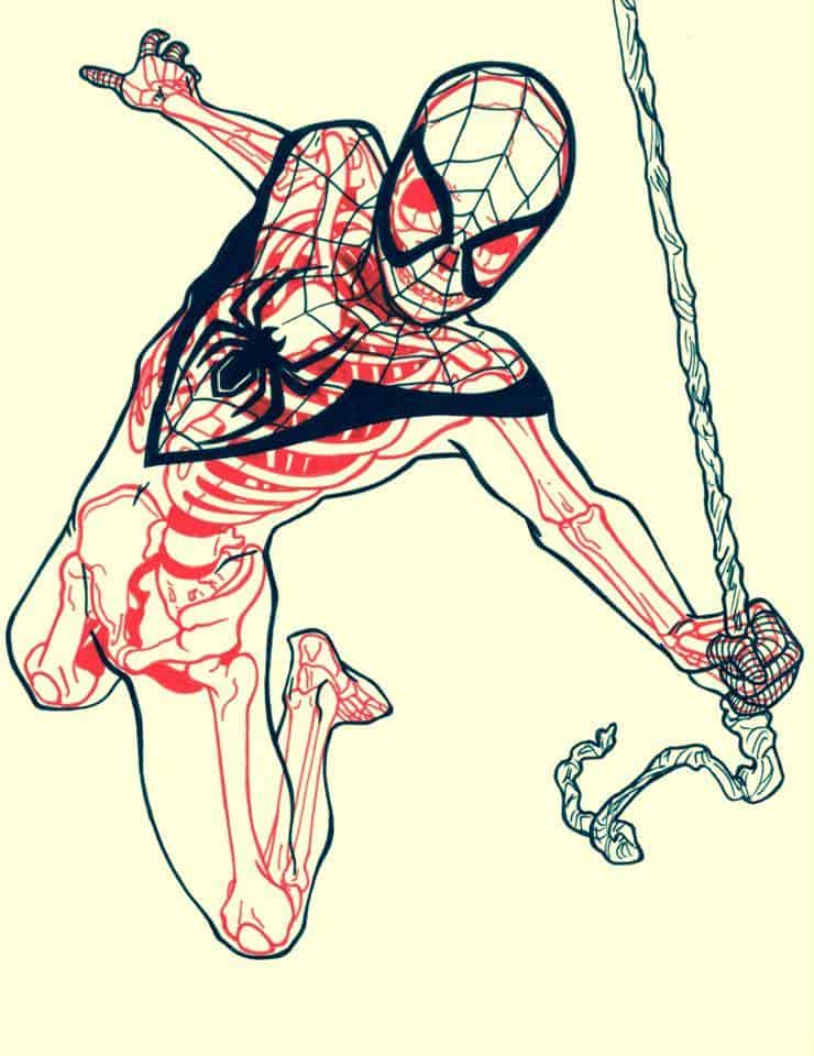 Chris Panda X-Ray Series Marvel Spiderman Comic