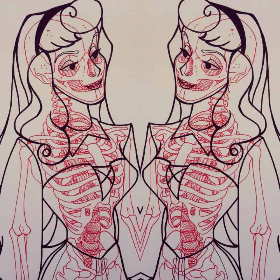 Chris Panda X-Ray Series Princess Aurora Sleeping Beauty Walt Disney
